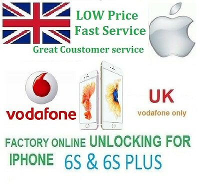 Vodafone UK Official Unlocking for IPhone 6S & 6S+ PLUS Fast Unlock Service voda
