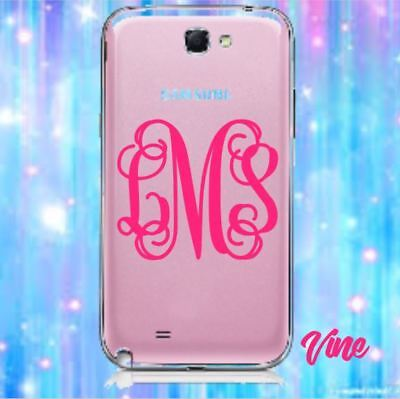 "Monogram Vinyl Decal for IPhone, Android, Smartphone, LG, Personalized (2"")"