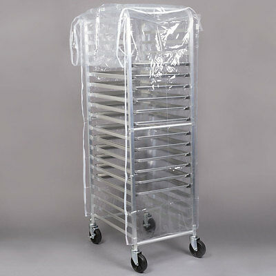 20 Pan Aluminum End Load Full Height Bun / Sheet Pan Rack with Cover and 12 Pans