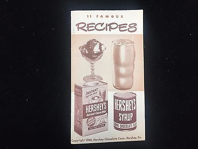 Vintage 1960 Hershey's Chocolate and Cocoa Advertising Recipe Booklet PA