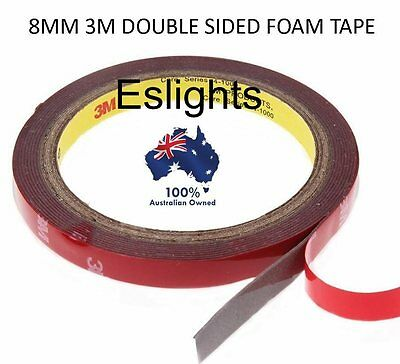 3M High Strength Double Sided Acrylic Foam Sticky Tape Strip Light 8Mm 3014 3528