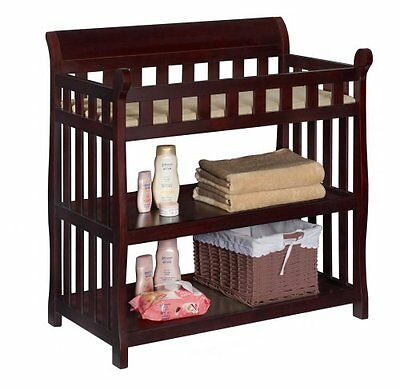 Delta Children Eclipse CHANGING TABLE, Baby NURSERY TABLE, Espresso Cherry