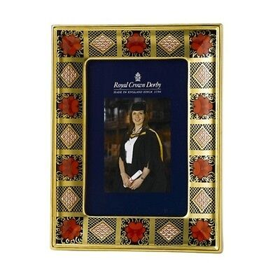 New Royal Crown Derby 2nd Quality Old Imari Solid Gold Band Photo Frame