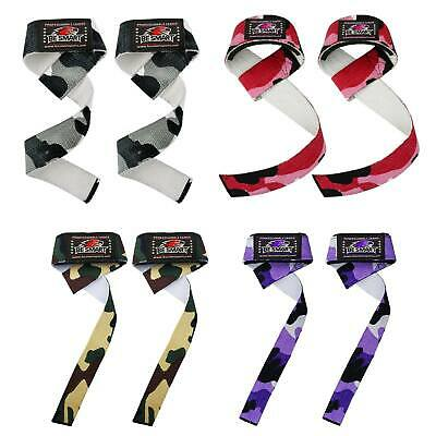 Padded Weight Lifting Training Gym Straps Hand Bar Wrist Support Glove Camo Wrap