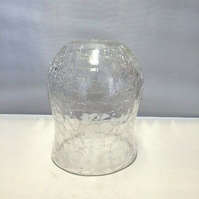 """Vintage Set of 4 Crackle Glass Items 3 Clear and 1 Green 5"""" Clear Vase & Others"""