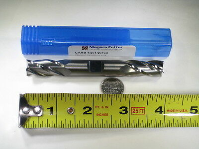 """New Niagara Carbide 1/2"""" Double End Mill Milling Long Length Cutting Cutter Tool"""