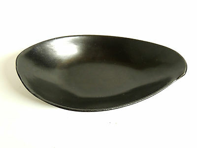 Mid Century Maurice of California Pottery Black Free Form Bowl Retro Cool MCM