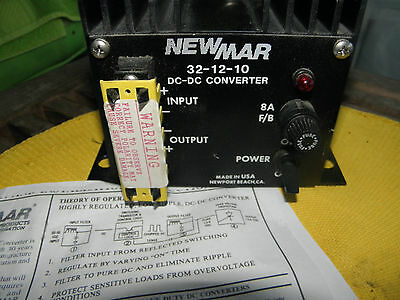 New HEAVY DUTY NEWMAR 32-12-10 DC-DC Converter