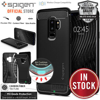 Galaxy S9/Plus S8 S7 Edge Case Genuine Spigen Rugged Armor Slim Cover Samsung