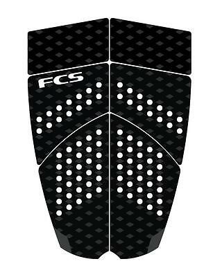 FCS LB6 Surfboard Tail Pad Traction New Deck Grip In Black/Charcoal