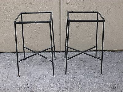 Pair Of Salterini  Tempestini Side Table Sold As Is W/o Glass Or Bottom Shelves