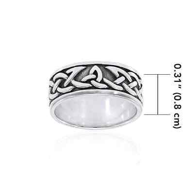 Celtic Knot .925 Sterling Silver Ring by Peter Stone