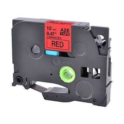 """Black on Red Label Tape TZ431 TZe431 For Brother P-touch 0.47'' 1/2"""" 12mm - 1PK"""