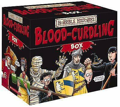 Horrible Histories BLOOD-CURDLING Box of Books from Scholastic : 20 titles
