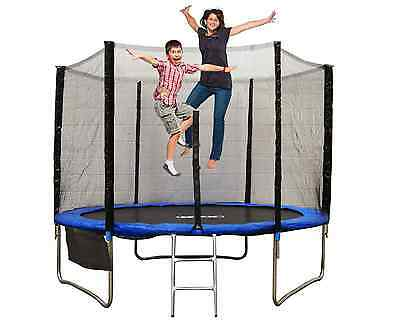 6Ft 8Ft 10Ft 12Ft 14Ft 16Ft Trampoline With Safety Net  Rain Cover Ladder New