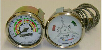 *Fordson Power Major Super Major Clockwise rev counter  Temp Gauge Set*