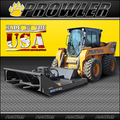 "Prowler 72 Inch Skid Steer Brush Mower - 72"" Brush Cutter, Mid Flow, 17-27 GPM"