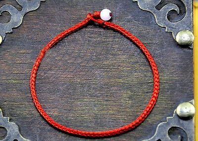 10pcs Hand Braided Chinese Red Simple Style Lucky String Rope Cord Bracelet 19cm