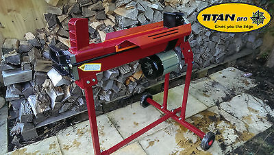 6 Ton Electric Log Splitter | Hydraulic Logsplitter Splitting | With Stand
