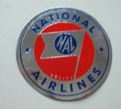 ORIGINAL 1950s  NATIONAL AIRLINES (USA) STICKER baggage / suitcase label