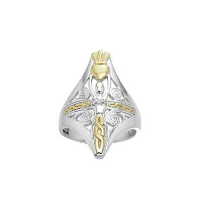 Danu Goddess .925 Sterling Silver Ring by Peter Stone