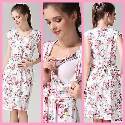 Sale!! New Floral Maternity Breastfeeding Nursing Dress Size M L Xl 10 12 14 16