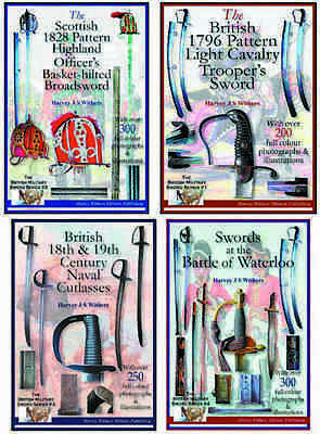 Set Of Four Full Colour Antique Sword Booklets For The Collector