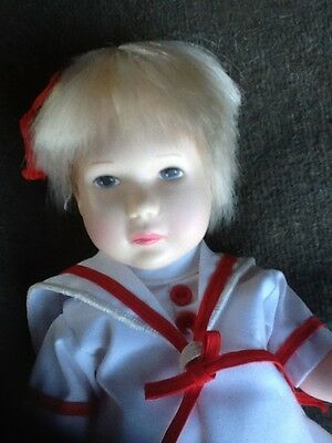 "1983 ~ Effanbee #1055 Lisa Grows Up 11"" Blonde Sailor Doll ~ NEW Vintage"