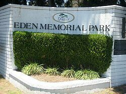 Eden Memorial Park, Two side-by-side Cemetery Plots