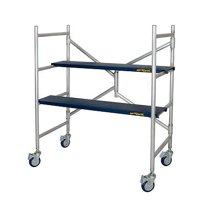 Metaltech 4' Aluminum Portable Drywall/Painting Scaffold - 600 lb. / 270 kg Cap.