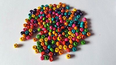 200 x Painted Wooden Beads - 5.5mm - Round [Various Colours Available]
