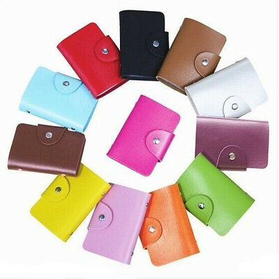 Slim Pouch ID Credit Card Business Wallet Cash Holder PU Leather Case Box Pocket
