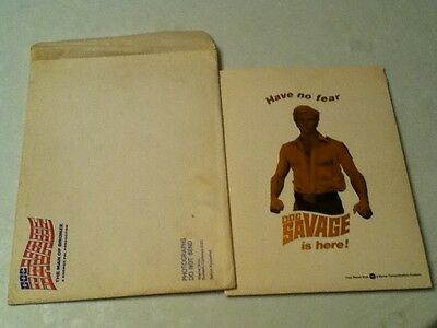 DOC SAVAGE Press Kit from 1975 movie Mint condition