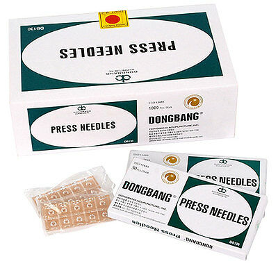 DONGBANG Press Needles Ear Sterile Acupuncture Disposable Needles, (500/1000pcs)