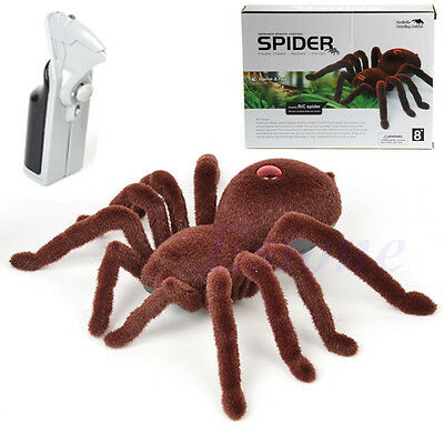 Remote Control Creepy Soft Scary Plush Spider Infrared RC Tarantula Kid Toy Gift