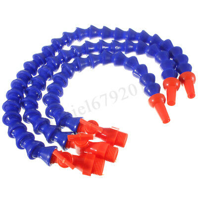 3/8 Flexible Plastic Water Oil Coolant Pipe Hose For Lathe CNC+Switch UK
