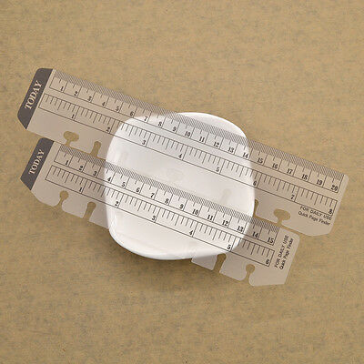 5pcs A6 Size Loose-leaf Notebook Ruler Today Page Marker Insert Organiser Hot