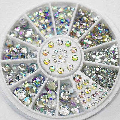 Mixed Lot 3D Glitter Crystal Rhinestones Nail Art Tips Decor DIY Accessories