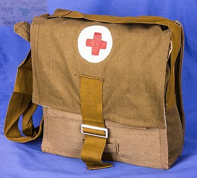 USSR Soviet Russian Army Military Tablet Messenger Medical Bag Pouch Red Cross