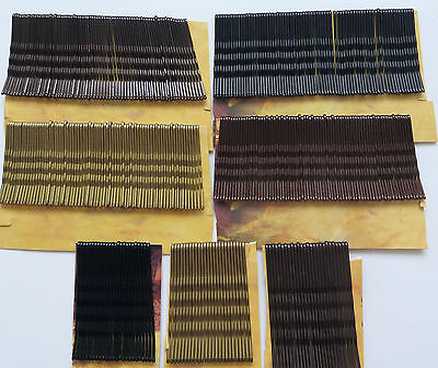 Bobby Kirby Pins Black/brown/gold Hair Grips Clips Clamps Salon Waved Slides