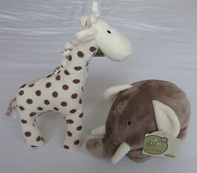Plush Soft Toys  For Baby / Toddler Elli & Raff Safari Friends Cuddly Adorable