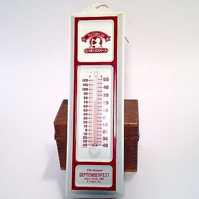 Vintage The Cola Clan Mid-South Coca Cola Schmidt MuseumThermometer Advertising