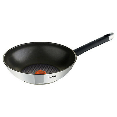 Tefal Emotion Stainless Steel Stir Fry 28cm,E8241944, NEW