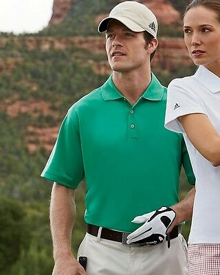 6 Men and Womens Sizes Adidas Golf Climalite Polo Shirt Custom Logo Embroidered