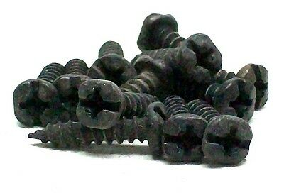 "(50) #6 5/8"" Black Forged Hammered Mission Early American Craftsman Screws Rl"