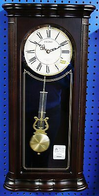 Seiko Musical Wall Clock  Qxm361Blh Dark Wooden Case -  18 Hi-Fi Melodies