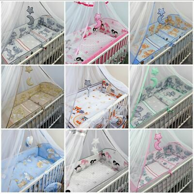 Long All Around Cot Bumper Sizes To Fit Baby Nursery Toddler Cot 120x60 / 140x70