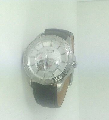 Accurist Pure Precision Gent's 21 Jewel Automatic Watch Leather Strap MB912