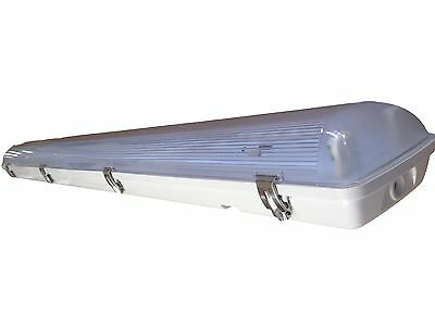LED T5 Vapor Tight Light Fixture 4' Two Lamp - 56 Watts BRIGHTER THAN T5HO - NEW