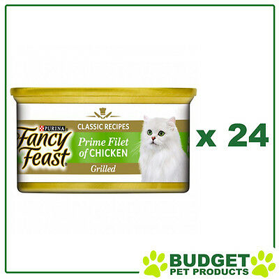 Fancy Feast Feline Cans Prime Filet of Chicken For Adult Cats 85g x 24